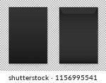 vector mockup of black a4 paper ... | Shutterstock .eps vector #1156995541
