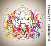 vintage card design for... | Shutterstock .eps vector #115699585