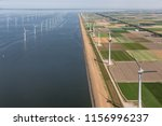 aerial view dutch agricultural... | Shutterstock . vector #1156996237