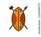 african shield  spear and... | Shutterstock .eps vector #1156996771