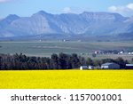 view of rural alberta and a... | Shutterstock . vector #1157001001