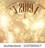 golden shining 2019 new year... | Shutterstock .eps vector #1157005417