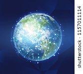 blockchain technology concept... | Shutterstock .eps vector #1157011114