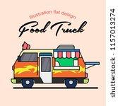 food truck illustration flat...   Shutterstock .eps vector #1157013274