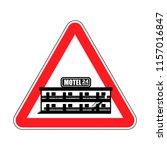 attention motel. danger mini... | Shutterstock .eps vector #1157016847
