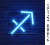 blue shining cosmic neon zodiac ... | Shutterstock .eps vector #1157037007
