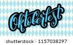 oktoberfest celebration... | Shutterstock .eps vector #1157038297