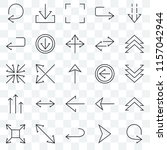set of 25 transparent icons... | Shutterstock .eps vector #1157042944