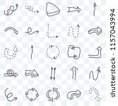 set of 25 transparent icons... | Shutterstock .eps vector #1157043994