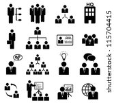 business management icon set in ... | Shutterstock .eps vector #115704415
