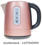 electric kettle on a white... | Shutterstock . vector #1157045494