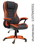 office chair on a white... | Shutterstock . vector #1157045551