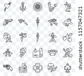 set of 25 transparent icons... | Shutterstock .eps vector #1157047321