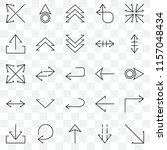 set of 25 transparent icons... | Shutterstock .eps vector #1157048434