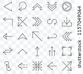 set of 25 transparent icons... | Shutterstock .eps vector #1157049064