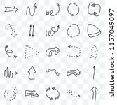 set of 25 transparent icons... | Shutterstock .eps vector #1157049097
