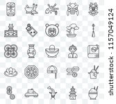 set of 25 transparent icons... | Shutterstock .eps vector #1157049124