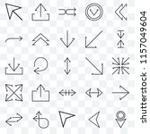set of 25 transparent icons... | Shutterstock .eps vector #1157049604