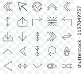 set of 25 transparent icons... | Shutterstock .eps vector #1157049757