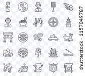 set of 25 transparent icons... | Shutterstock .eps vector #1157049787
