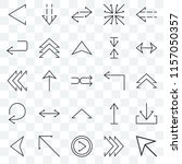 set of 25 transparent icons... | Shutterstock .eps vector #1157050357