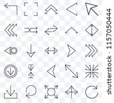 set of 25 transparent icons... | Shutterstock .eps vector #1157050444