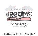 dreams loading concept   vector ... | Shutterstock .eps vector #1157065027