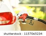 refueling car at the refuel... | Shutterstock . vector #1157065234