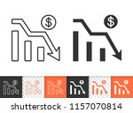 graph down black linear and... | Shutterstock .eps vector #1157070814
