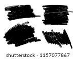 vector set of hand drawn marker ... | Shutterstock .eps vector #1157077867