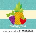always fresh nature nutrition... | Shutterstock .eps vector #1157078941