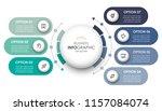 circular infographic design... | Shutterstock .eps vector #1157084074