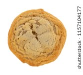 top view of a single cookie... | Shutterstock . vector #1157104177