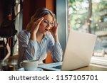 portrait of young businesswoman ... | Shutterstock . vector #1157105701