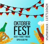 oktoberfest celebration... | Shutterstock .eps vector #1157110624