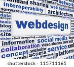 webdesign message background....   Shutterstock . vector #115711165