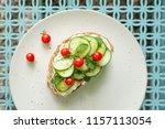 a mediterranean twist on... | Shutterstock . vector #1157113054