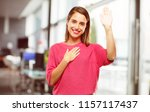 young woman full body. smiling... | Shutterstock . vector #1157117437