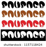 inscription from sausages  text ... | Shutterstock .eps vector #1157118424