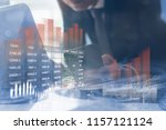 business investment concept.... | Shutterstock . vector #1157121124