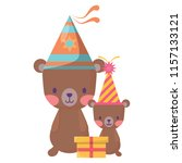 happy birthday design | Shutterstock .eps vector #1157133121
