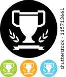 winner's cup  laurel wreath and ... | Shutterstock .eps vector #115713661