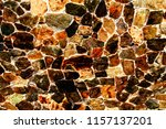 colorful stone rock wall... | Shutterstock . vector #1157137201