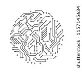 printed circuit board black and ... | Shutterstock .eps vector #1157145634
