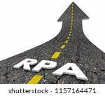 rpa robotic process automation... | Shutterstock . vector #1157164471