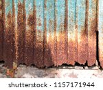 rusty corrugated metal sheet... | Shutterstock . vector #1157171944