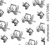 grunge forklift mecanic... | Shutterstock .eps vector #1157172481
