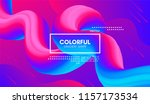 abstract 3d background. wave... | Shutterstock .eps vector #1157173534