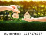 loan or save for buy a house... | Shutterstock . vector #1157176387