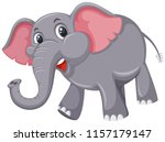a cute elephant on white... | Shutterstock .eps vector #1157179147